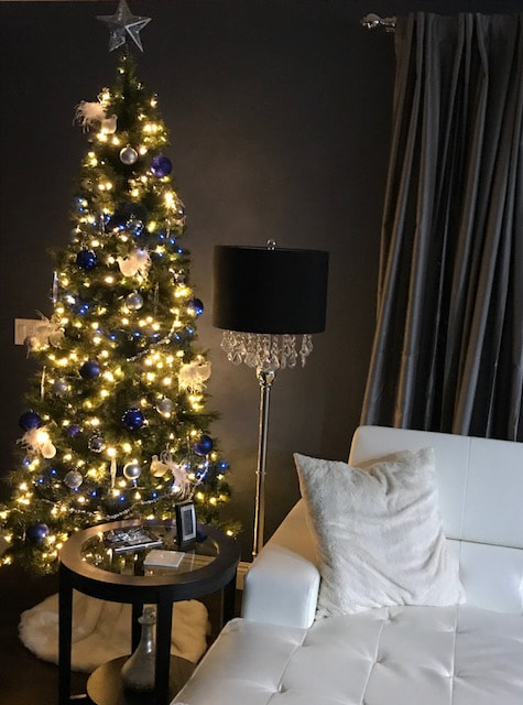 christmas trees in small spaces